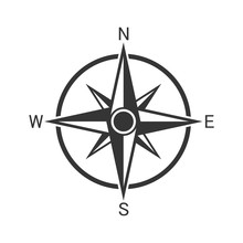 Vector Compass Icon.