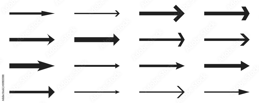 Fototapeta Arrows set- vector.