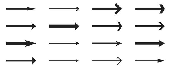 Arrows set- vector.