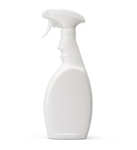 White Plastic Spray Bottle Iso...