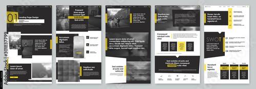 Valokuva Landing Page Design from Website
