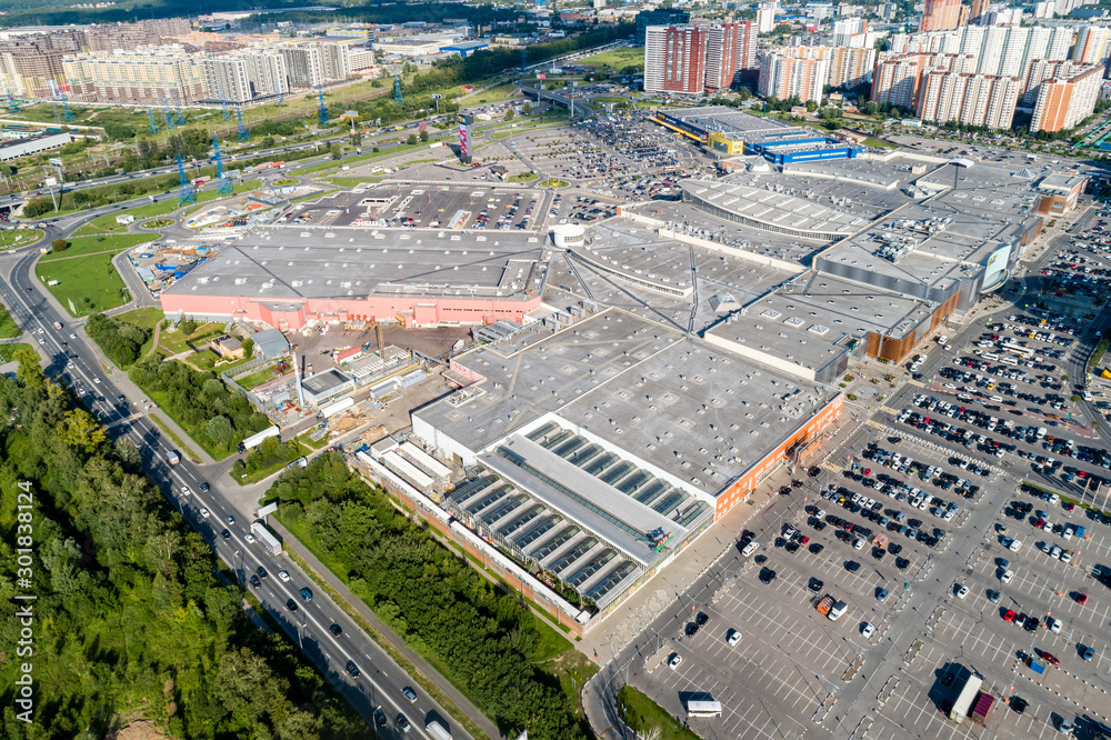 Fototapety, obrazy: Moscow region, Khimki, top view of the Mega shopping mall