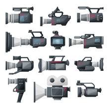 Video Camera Cartoon Vector Il...