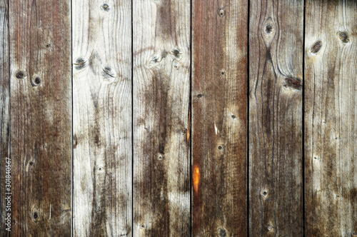 Unpainted weathered wooden boards texture #301840567