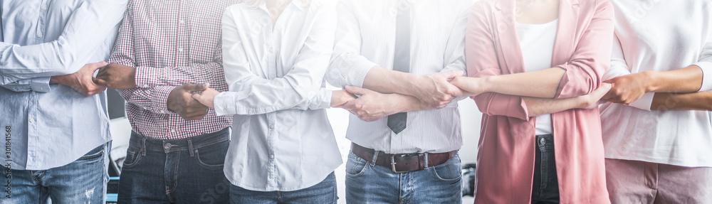 Fototapeta Unity and teamwork concept.