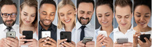 People Using Smart Phones.