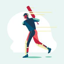 Illustration Of Batsman Playin...