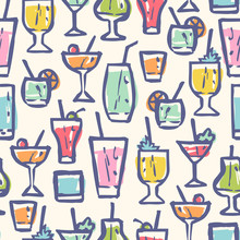 Retro Pattern For Cocktail Party