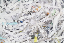 Shredded Paper In A Cardboard ...