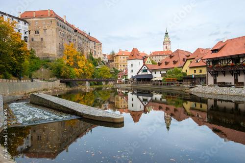 Valokuvatapetti Cesky Krumlov - beautiful cityscape of Cesky Krumlov in autumn.
