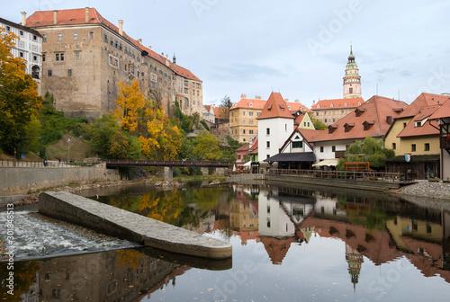 Valokuva  Cesky Krumlov - beautiful cityscape of Cesky Krumlov in autumn.