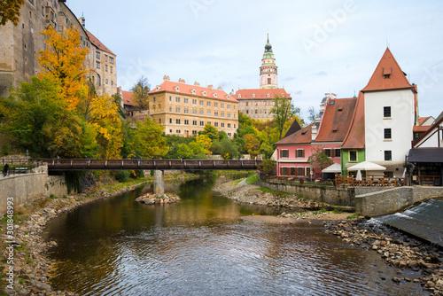Cesky Krumlov - beautiful cityscape of Cesky Krumlov in autumn. Canvas-taulu