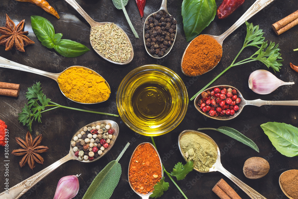 Fototapety, obrazy: Herbs and spices
