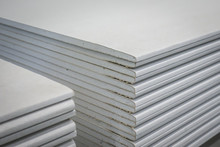 Gypsum Plasterboard In The Stack