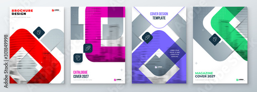 Set of Brochure Cover Template Layout Design Tablou Canvas