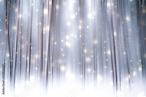 Foto auf Leinwand Dunkelgrau Winter season abstract nature art print and Christmas landscape holiday background, snowy magical forest as luxury brand postcard design backdrop