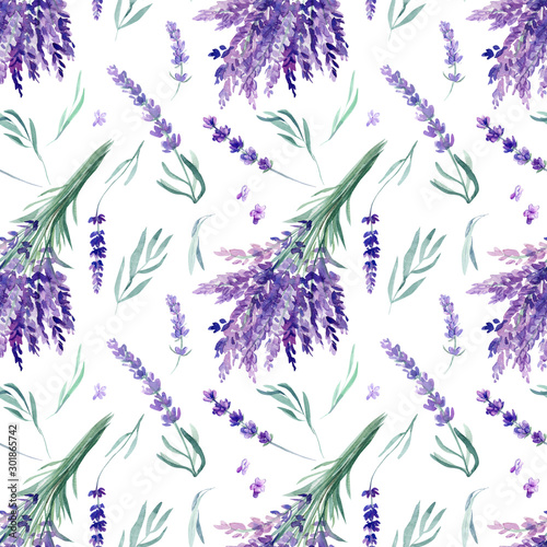 Tapeta fioletowa  seamless-pattern-lavender-watercolor-on-an-isolated-white-background-hand-drawing