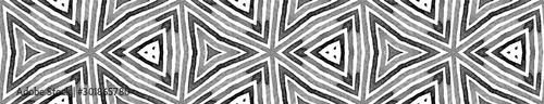 Fototapety, obrazy: Black and white Seamless Border Scroll. Geometric