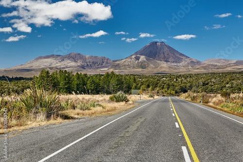 Canvastavla  Volcanic landscape in Tongariro National Park, New Zealand