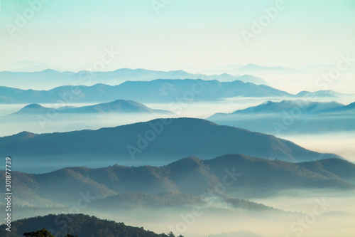 Foto auf Leinwand Landschaft aerial view of mountains