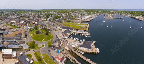 Aerial view of Gloucester City and Gloucester Harbor panorama, Cape Ann, Massachusetts, USA Wallpaper Mural