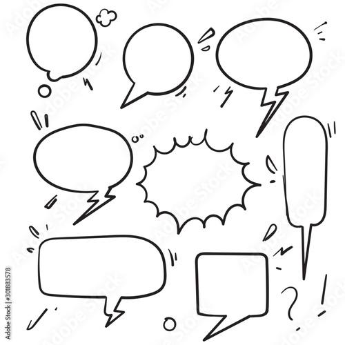 Obraz na plátně  Speech bubbles