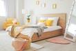 Leinwandbild Motiv Interior of beautiful modern bedroom
