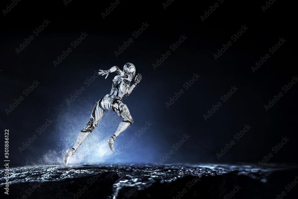 Fototapety, obrazy: Motion caption virtual reality. Mixed media