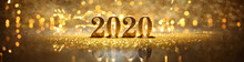 2020 In Sparkling Gold Numbers Celebrating The New Year Or Christmas