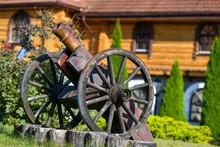 Old Iron Gun. A Cannon That Sh...