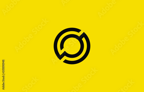 Initial based clean and minimal O Logo Canvas Print