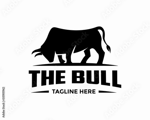 Awesome Bull Logo Design Vector Template