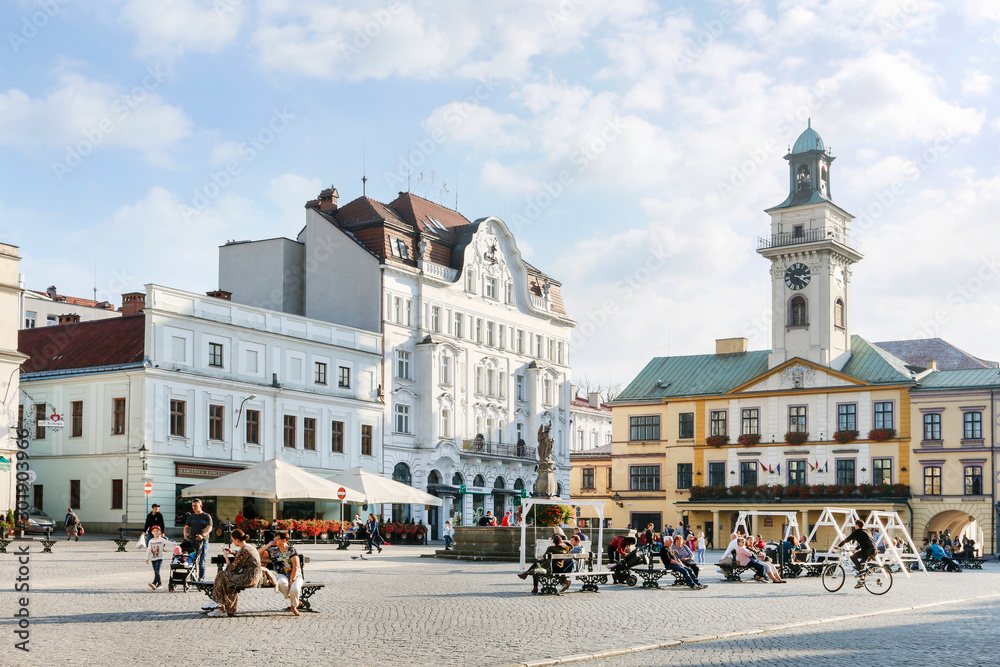 Fototapety, obrazy: CIESZYN, POLAND - OCTOBER 26,2019: The Main Market Square