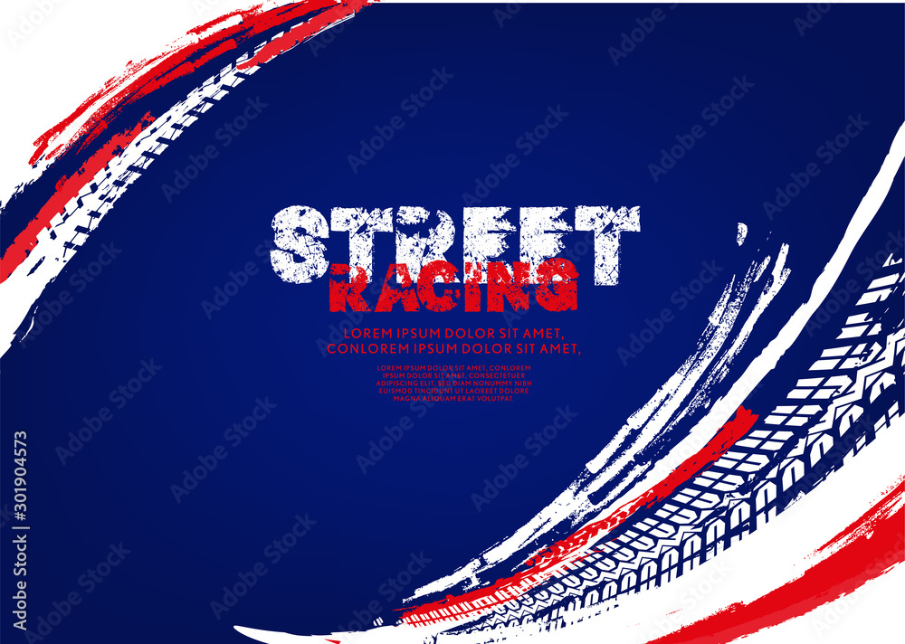 Fototapeta Tire Poster Background
