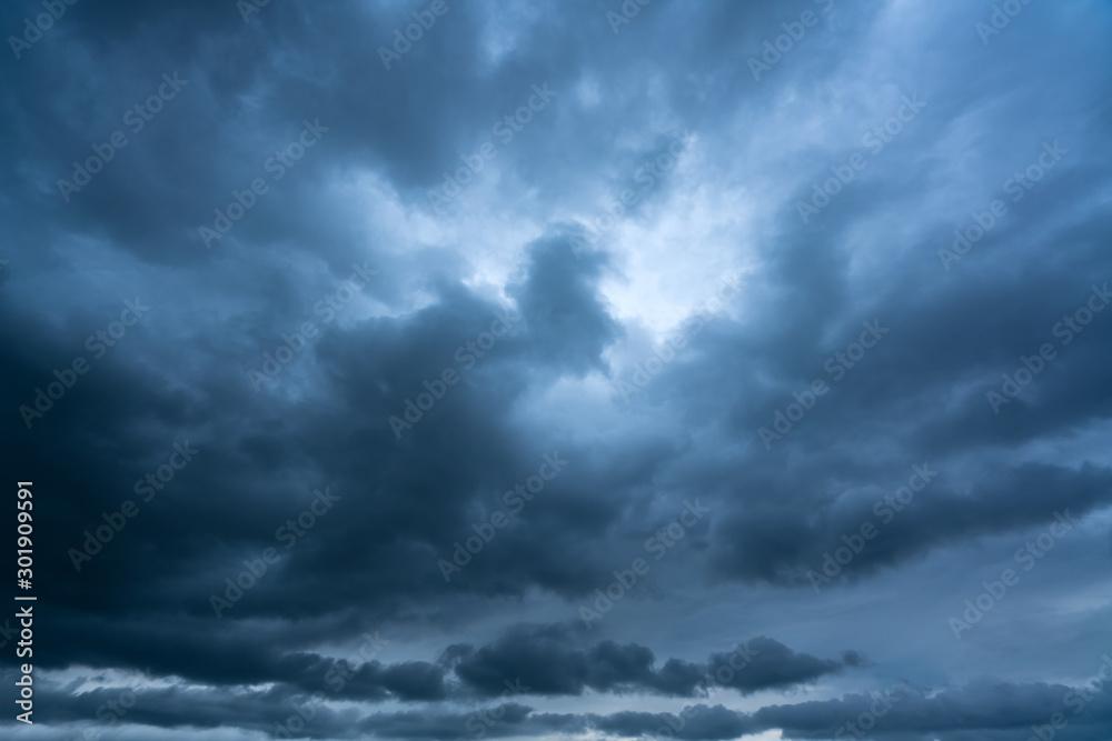 Fototapeta Dark thunderstorm clouds
