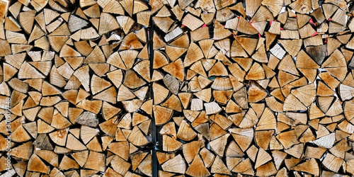 Fotomural  Dry Wood pile firewoods background