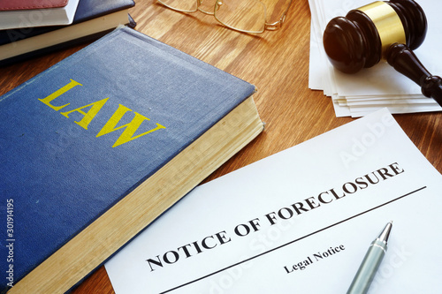Fotomural  Notice of Foreclosure letter in the court.