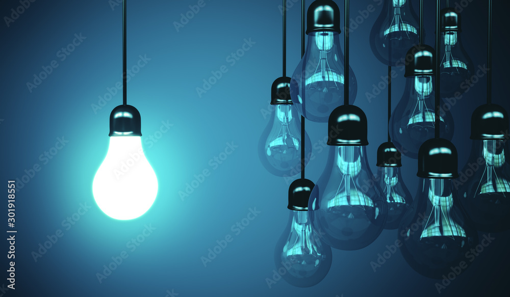 Fototapety, obrazy: lamps hanging the wire