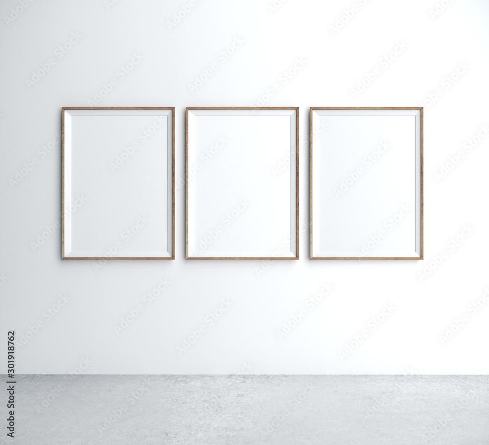 Fototapety, obrazy: Three placard on wall
