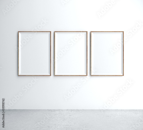 Obraz Three placard on wall - fototapety do salonu