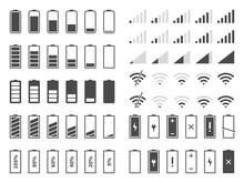 Signal And Battery Icons. Netw...