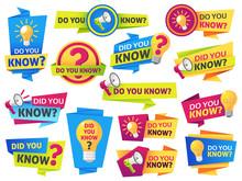 Do You Know. Label Sticker Wit...