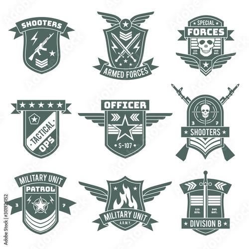 Military badges Canvas Print