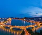 Fototapeta Kawa jest smaczna - Night panorama of Budapest Hungary