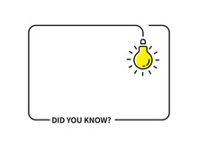 Did You Know With Hanging Bulb...