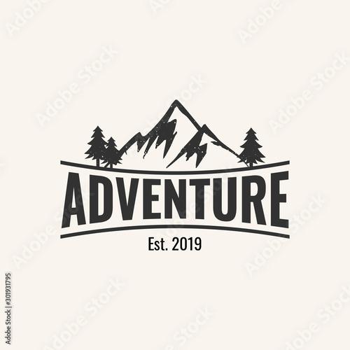 Obraz adventure logo design inspiration, vector eps 10 - fototapety do salonu