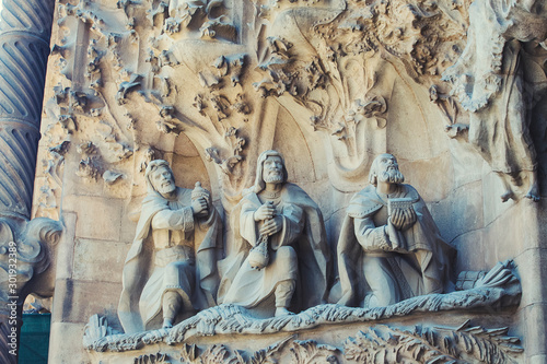 Fotomural gothic statue in temple