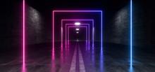 Neon Glowing Sci Fi Futuristic...