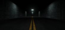 Dark Asphalt Night Underground Cement Concrete Road Garage Hall Lane Path Empty Background Modern Grunge Rough Realistic 3D Rendering