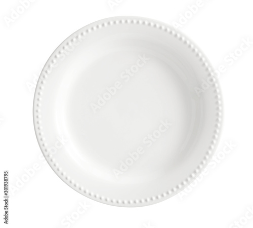 Empty white dish plate background - Empty porcelain white dish of dining plates